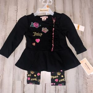 Juicy Couture Newborn Two Piece Outfit